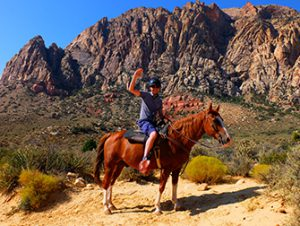 Equitazione in Red Rock Canyon a Las Vegas