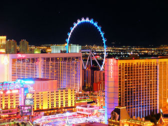 The LINQ High Roller di Las Vegas - Di notte