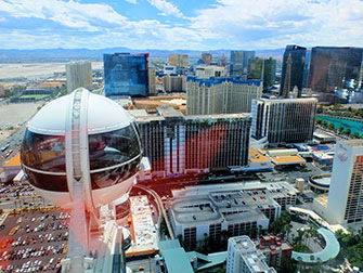 The LINQ High Roller di Las Vegas - Vista